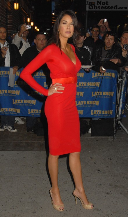 Teri Hatcher Sexy In Red Dress Only In High Heels