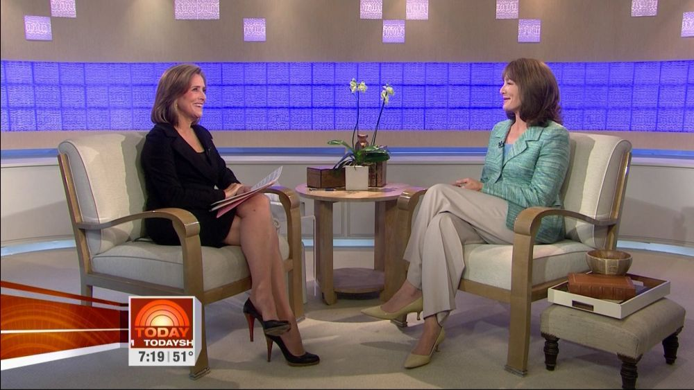 Meredith Vieira Sey Legs In High Heels On The Today Show