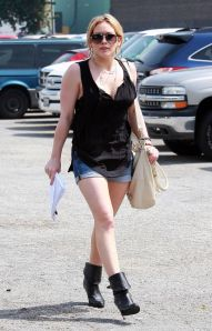 Hilary Duff Arriving For Casting Call In Hollywood