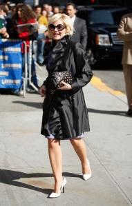 "Actress Elisha Cuthbert visits ""Late Show with David Letterman"""