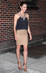 Jessica Biel At The 'Late Show With David Letterman'