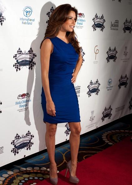 eva longoria blue dress