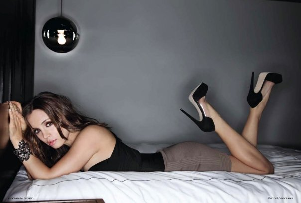 I think Eliza Dushku has some of the best celebrity legs in high heels.