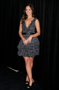 minka kelly cleavage and legs in high heels