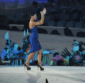 Nelly Fertado has sexy legs in sky high heels