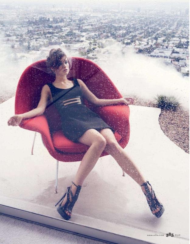 olivia wilde has sexy legs in high heels in elle