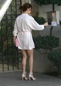 Kate Walsh is leggy in high heels