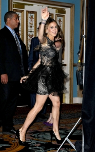 Sarah Jessica Parker legs in high heels