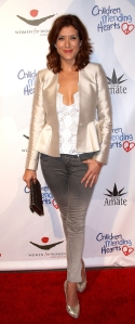 Kate Walsh tight jeans and high heels and sexy legs