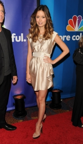 Summer Glau sexy legs in high heels at  NBC Universal's Upfront Presentation at NYC