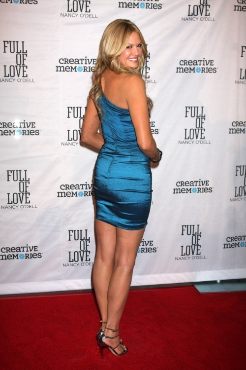 nancy odell blue dress and heels