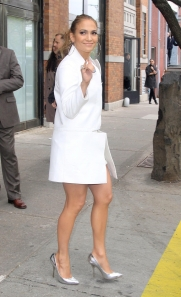 jennifer lopez sexy legs in high heels in NYC