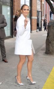 jennifer lopez sexy legs in high heels in NYC