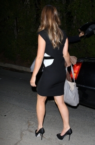 olivia wilde little black dress and high heels
