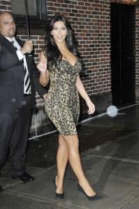 kim kardashian letterman leopard print