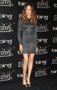 Maggie Q legs in high heels