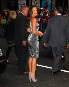 minka kelly outside letterman