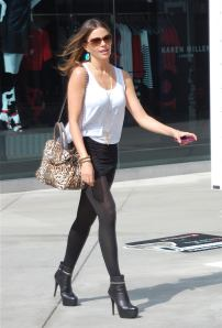Sofia Vergara great legs in high heel booties