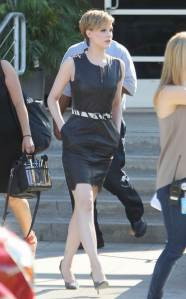 Evan Rachel Wood Leaving the Chelsea Lately Show
