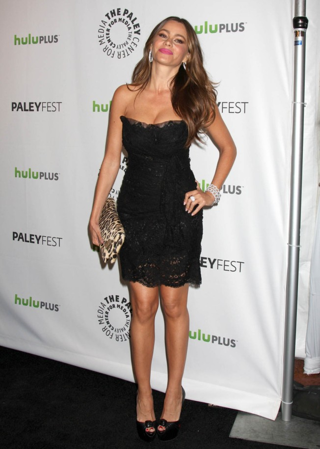 sofia vergara LBD and high heels