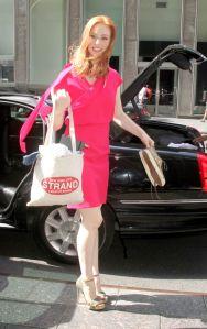 Deborah Ann Woll pretty in pink and heels