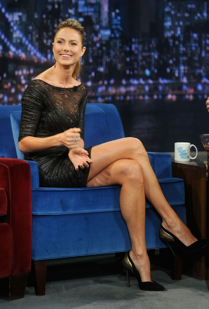 Sexy legs on talk shows