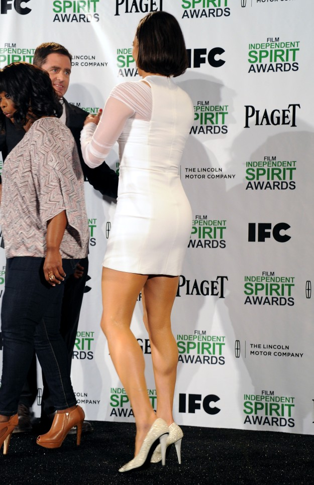 Paula Patton Legs at Film Independent Spirit Awards
