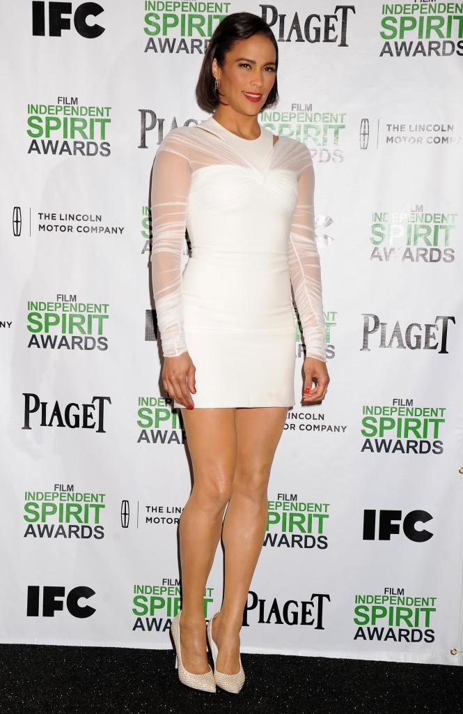 Paula Patton Legs at Film Independent Spirit Awards