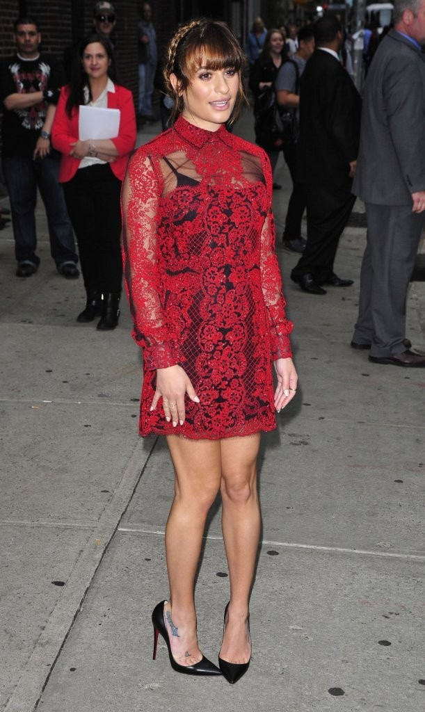 lea michele at late show