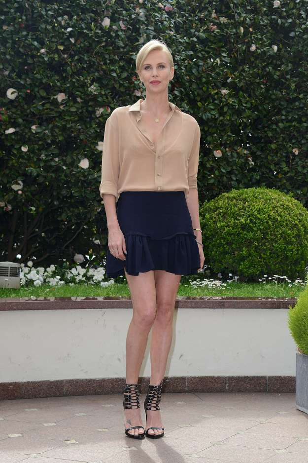 Charlize Theron The Huntsman and The Ice Queen photocall