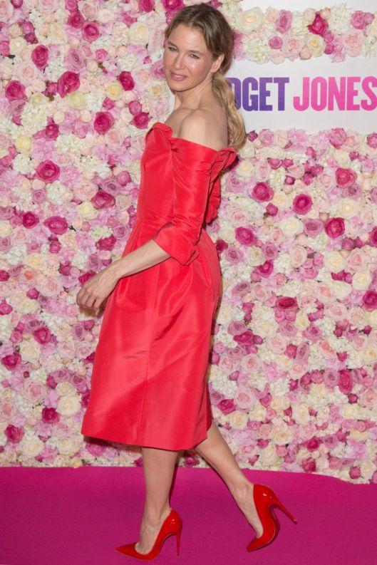 Renee Zellwegerat the Bridget Jones Baby premiere, Paris