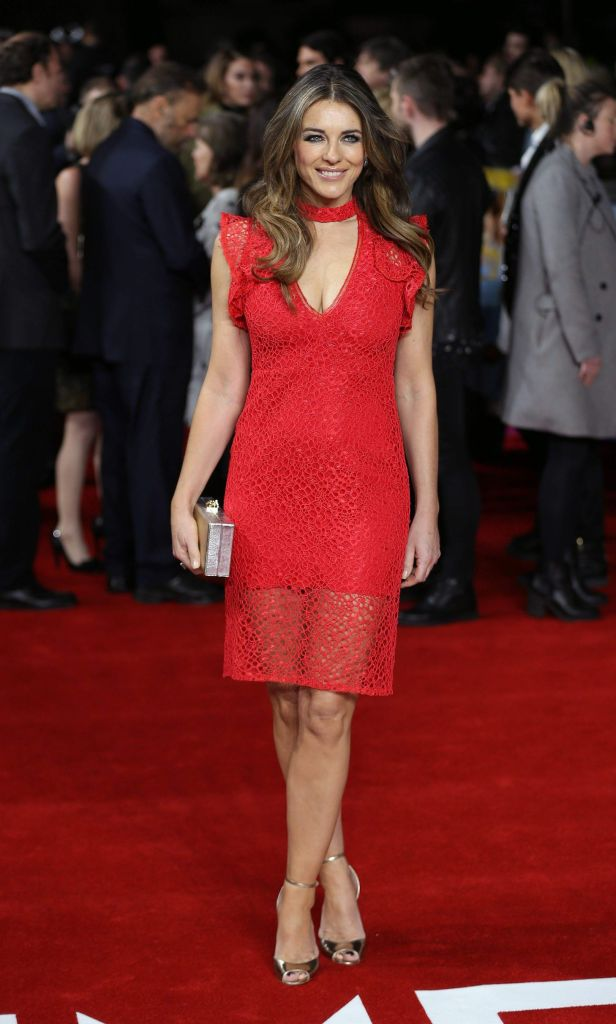 Elizabeth Hurley in red lace